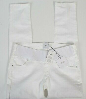 Asos Womens Maternity Pants 8 Ladies White Casual Stretch Band Trousers BNWT