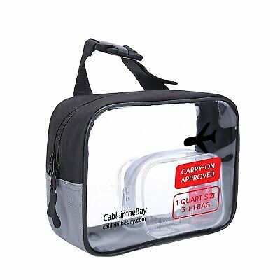 Cableinthebay TSA Approved Toiletry Bags| Clear Travel Toiletry Bag|Quart Siz...