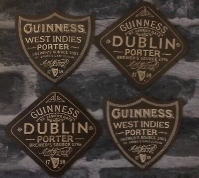 Guinness Beer Mats / Coasters (X4) New / Laminate / Washable