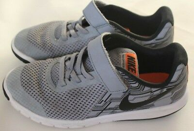 a74fa05ce824 Boys Nike Flex Experience RN 5 Grey Black Size 1.5Y Sneakers No laces