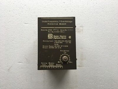 Basler Electric UFOV 260A Under Frequency / Over Voltage Protective Module *New*