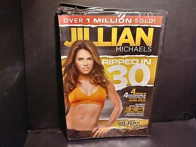 Jillian Michaels Ripped In 30 & 30 Day Shred Fitness Workout DVDs Brand New B318