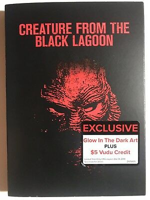 Creature from the Black Lagoon (DVD, 2014)  GLOW IN THE DARK SLIPCOVER