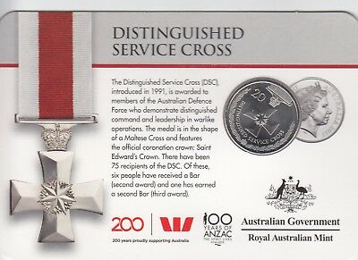 "2017 Australian 20 cent coin ""Distinguished Service"" - Legends of the ANZAC"