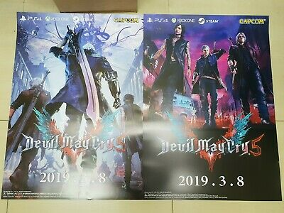 02x Devil May Cry 5 / DMC5 Poster (H 72cm x L 51cm) (Official Product/Brand New)