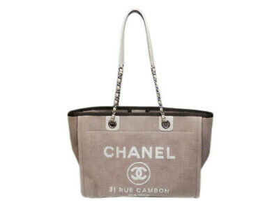 3a5d21e72ac9 CHANEL DEAUVILLE CANVAS Tote Bag Brown Auth -  2