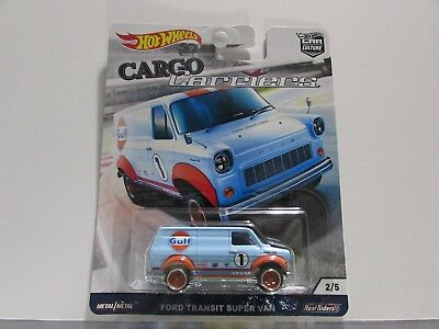 Gulf Ford Transit Super Van Hot Wheels 1:64 Scale Diecast *CARGO CARRIERS*
