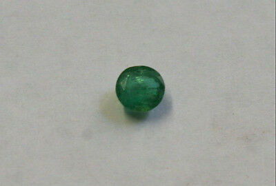Natural Loose Emerald Hand Cut Gemstone 4.5Mm Faceted Round 0.4Ct Gem Em34