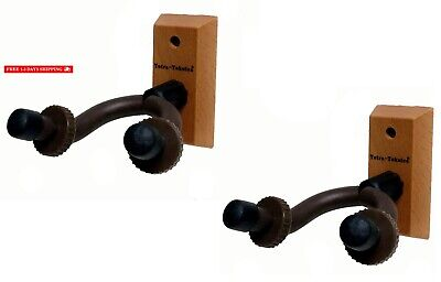 Tetra-Teknica Essentials Series EGH-01NW-2P Hardwood Home Studio Guitar Hanger