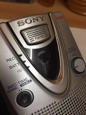 Sony Portable Cassette Corder Working Condition Speed Control Vintage