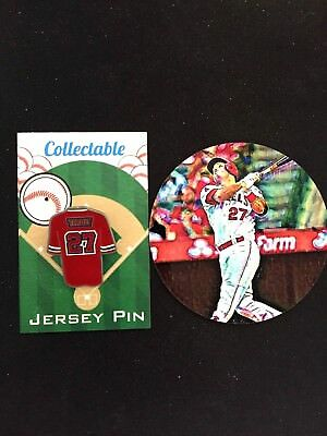 Los Ángeles Angels Mike Trucha Pin de Solapa & Magnet-Classic Collectables- (2)