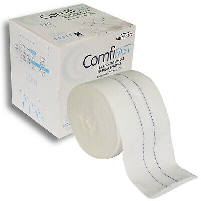 Comfifast Elasticated Viscose Tubular Bandage, Large Limbs, Blue Line, 7.5cm