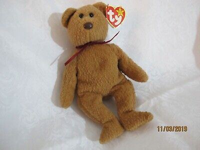6d074992cc3 TY Original (ORIGIINAL) BEANIE BABY CURLY BEAR MINT CONDITION RARE RETIRED  - TAG