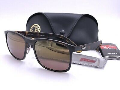 1546aaad02c Ray Ban RB4264 CHROMANCE 894 B Purple Mirror POLARIZED  Tortoise AUTHENTIC