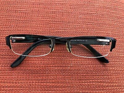 ec12088592d CHRISTIAN DIOR CD-3134 BLACK Semi-RIMLESS Women s Eyeglasses Frame ...