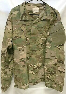 US Military Army Issue Readyone USA Camo Shirt/Jacket Sz Large Regular L/R