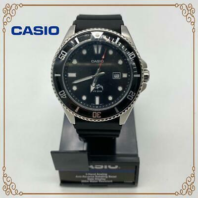 Casio Mens Watch MDV106-1AV 200M Duro Analog Diver Black Urethane Japan F/S