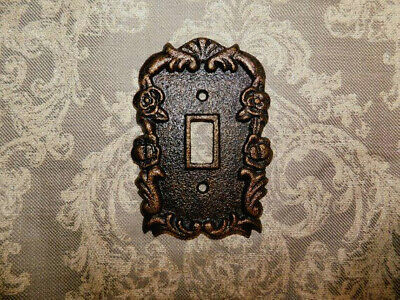 Metal Single Light Toggle Cover, Decorative Wall Switch Plate, Iron Ornate NEW