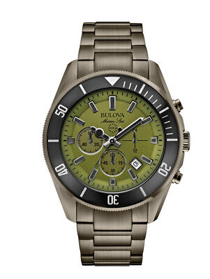 Bulova Marine Star Men's Quartz Chronograph Gray Bracelet 43mm Watch 98B206