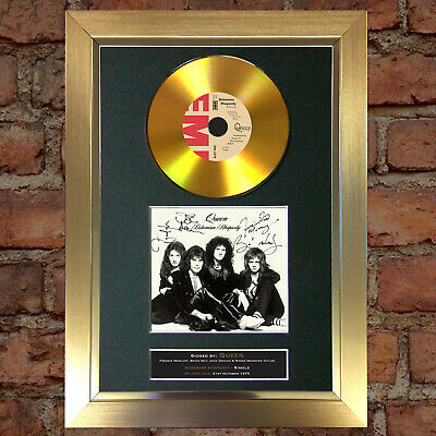 GOLD DISC QUEEN Bohemian Rhapsody Signed Autograph Mounted Print A4 180