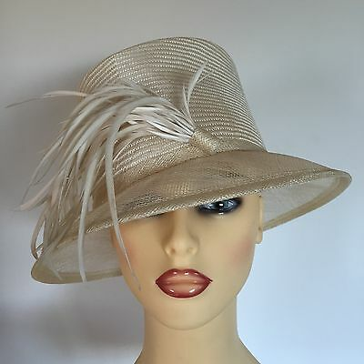 930fec3c92de0 LADIES WEDDING HAT Races Mother Bride Ascot Palest Mint Green Hat ...