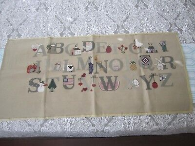ABC's Counted cross stitch - Finished Product Unframed