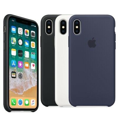 Apple OEM Genuine Original Soft Silicone Case Cover For Apple iPhone X - Retail