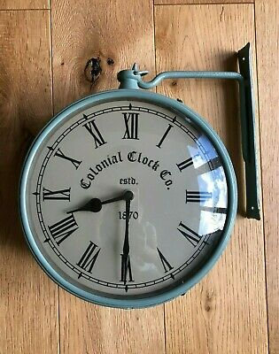 Vintage Colonial Clock Co Est 1870 Wall Mounted Hanging Clock