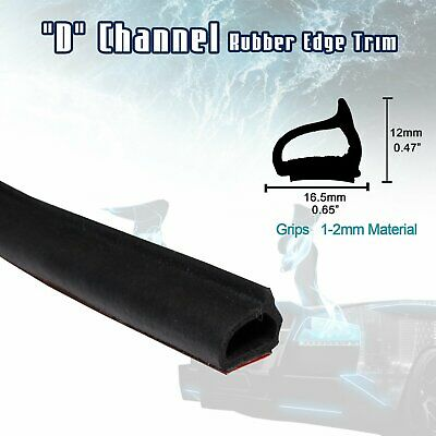 "Rubber Seal Strip Trim 120"" D Shape Weatherstrip Soundproof Car Truck Door Edge"