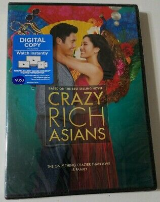Crazy Rich Asians (DVD, DIGITAL COPY)