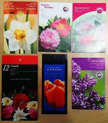 Canada Post Flower Theme Booklet Postage Stamps @ Face Value