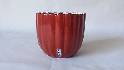 Japanese Hand Painted Signed Art Pottery Cup Pot