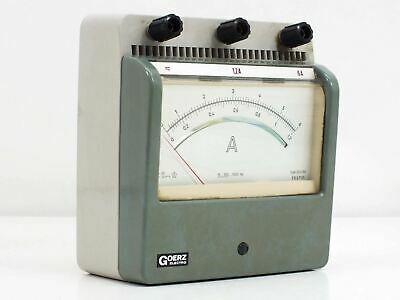 Goerz Electro Amp Meter 0 ~ 1.2 / 0 ~ 6.0 Amp MAX - Tested GOOD (324768)