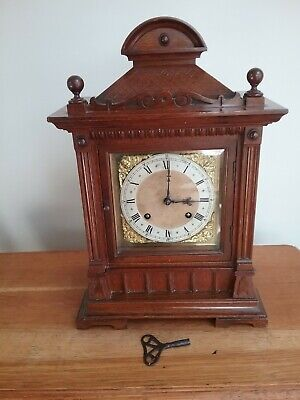 Antique Ting Tang 8 day Bracket/Mantle Clock. Fully working, good condition