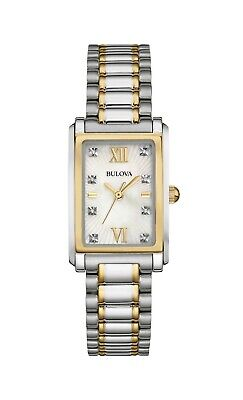Bulova Women's 98P144 Quartz Diamond Accents Two-Tone Bracelet 32mm Watch