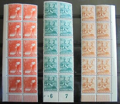ALLIED OCCUPATION 1947 Occupations, 3 Bocks of 10 MNH