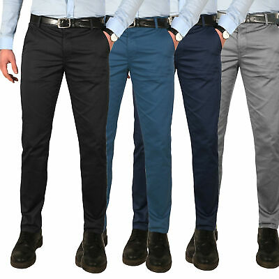 PANTALONI UOMO CHINO regular fit tasche casual taglie forti