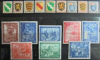 ALLIED OCCUPATION 1945-49 Excellent Collection of 17 MNH