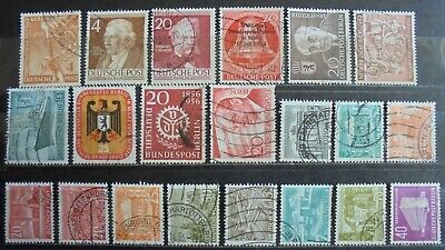 GERMANY (Berlin) 1949-56 Excellent Collection of 21 Used