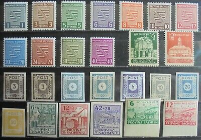 GERMANY Third Reich 1945 Soviet Zone, Provinz Sachsen Collection of 26 MNH