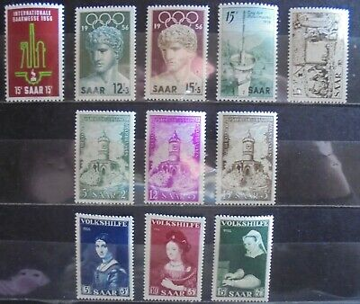 GERMANY SAAR 1956 Excellent Collection of 11 MNH