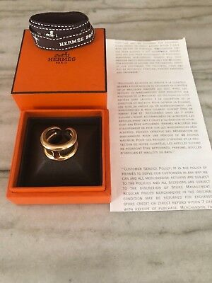 0a76ec7edab72 AUTHENTIC HERMES OSMOSE 18k Rose Gold Ring~ Size 53 $3500+Tax~ Mint  Condition!