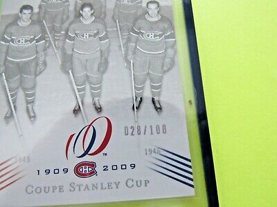 2008-09  Montreal Canadiens Centennial Parallel Cup 6 {1945-46} Card #182