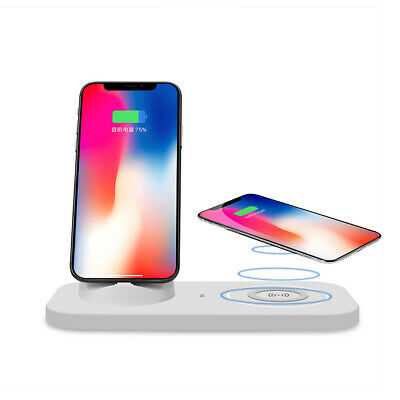 AU USB To 3in1 Qi Wireless Charger Charging Dock For Samsung S10+ iPhone 8 X XS