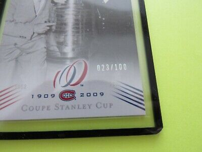 2008-09  Montreal Canadiens Centennial Parallel Cup 7 {1952-53} Card #183