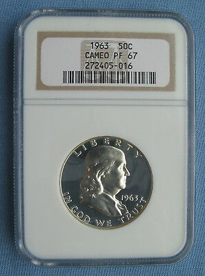 1963 Proof Franklin Half Dollar - NGC Graded PF 67 Cameo (50C pr67 cam)