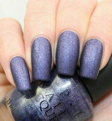 OPI INK SUEDE Blue Purple Micro Glitter Nail Polish Lacquer .5oz B61 ...