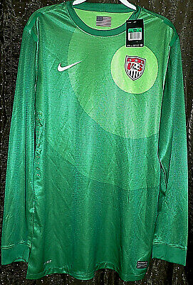 de53d470efc NIKE US SOCCER Authentic Goalkeeper Jersey Men s Size XL Green USA ...