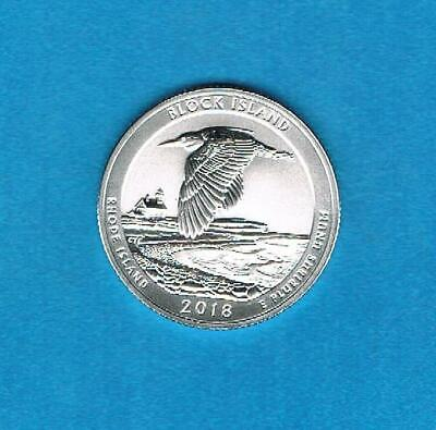 2018 S Silver Reverse Proof Quarter Block Island