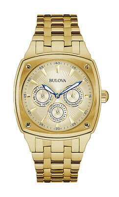 Bulova Classic Men's Quartz Champagne Dial Gold-Tone Bracelet 39mm Watch 97C105